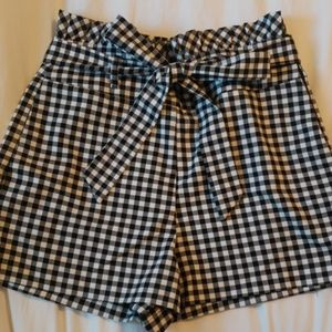 Zara Gingham Bow Shorts
